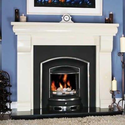 Aspen Stone Fireplace
