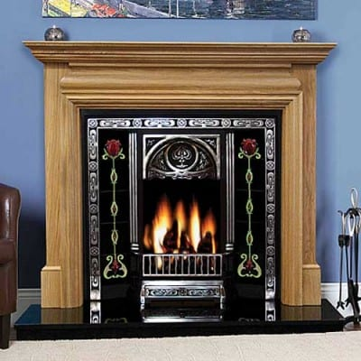 Genova Oak Fireplace