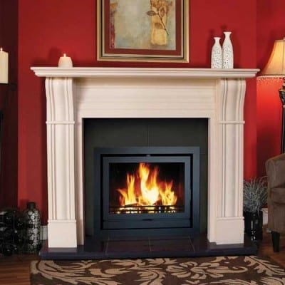 Irish Corbel Stone Fireplace