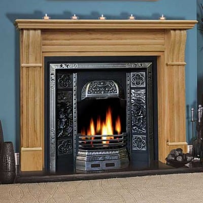 Irish Corbel Oak Fireplace