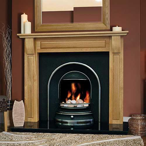 Torino Oak Fireplace