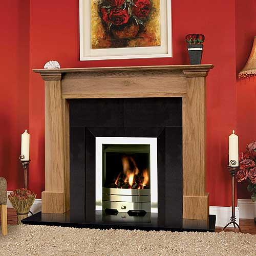 Vigo Oak Fireplace